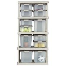 Sterilite 4 Shelf Cabinet by Amazon Com Sterilite 01558501 5 Shelf Unit With Light Platinum