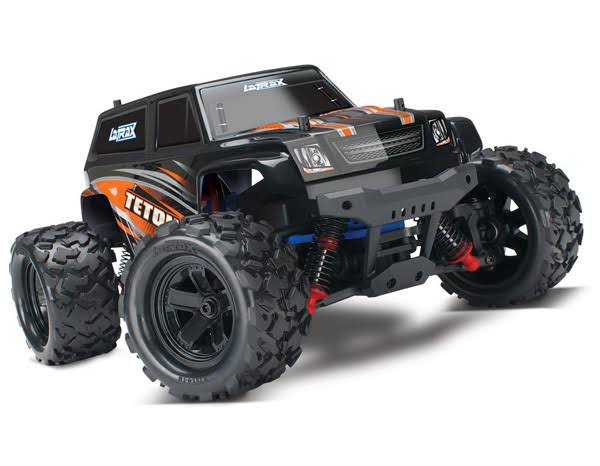 LaTrax Teton: 1/18 Scale 4WD Electric Monster Truck. Orange