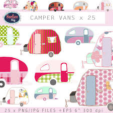 Campervan Clip Art CAMPER VANS Retro Campers
