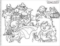 Coloring Page Dragon Ball Z Cartoons 256