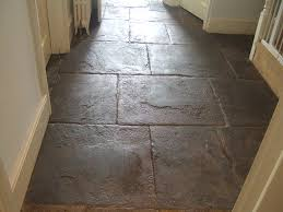 Flagstone Floor Cleaned And Polished
