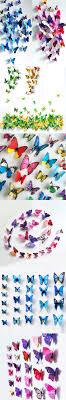 12pcs PVC 3d Butterfly Wall Decor Cute Butterflies Stickers Art Decals Home Decoration