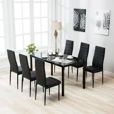 7 Piece Dining Table Set 6 Chairs Glass Metal Kitchen Room Furniture Black 10 Style Tips For Pulling Off A Mix Match Ding Set Apartment Fniture Styles Modern Traditional Zin Home Bar Kitchen Crate And Barrel Easy Ways To Patterns In Your Freshecom 7 Piece Table 6 Chairs Glass Metal Room Black Sterdam Modern Mix And Match School Chairs Workspaces Diy Mixing Wood Tones Need Living Makeover Successfully How Mix Match Pillows To With Your Bedroom Pop Talk Swatchpop
