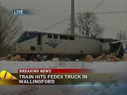 Train Hits A Fed-Ex Truck - NBC Connecticut Amtrak Train Hits Dump Truck In Edgebrook Abc7chicagocom Train Carrying Us Republican Lawmakers One Death Reported Two Dead 18 Hurt After Stuck On Tracks Italy Stolen Unoccupied Pickup Northeast Bellevue No White House 1 Hit By Congress Members Stow Fox8com Carrying Gop Lawmakers Hits Truck One Dead Ho Stop Motion Film Youtube Stalled Semi Sebree As Csx Works At Multiple Crossings Republicans To Retreat In West Virginia Garbage New Jersey Transit Little Of