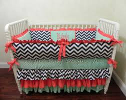 Coral And Navy Baby Bedding by Custom Baby Bedding Set Waverly Crib Bedding Lavender