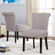 Simple Living Adeline Nailhead Parsons Dining Chair (Set Of 2) (Grey ... Fniture Mesmerizing Parsons Chairs For Ding Room Inspire Q Aberdeen Beige Upholstered Nail Head Parson Chair Set Of Rustic Tan Head At Home Amazoncom Homepop Classic With Nailhead Trim Belham Living Asher 2 Hayneedle Cream Linen Carrington Court In Your Customer Photos Decor Using Chic Tufted Cheap Tufted Silk Road Ruby Gordon Belleze Modern Fabric Add Contemporary Sophiscation To With