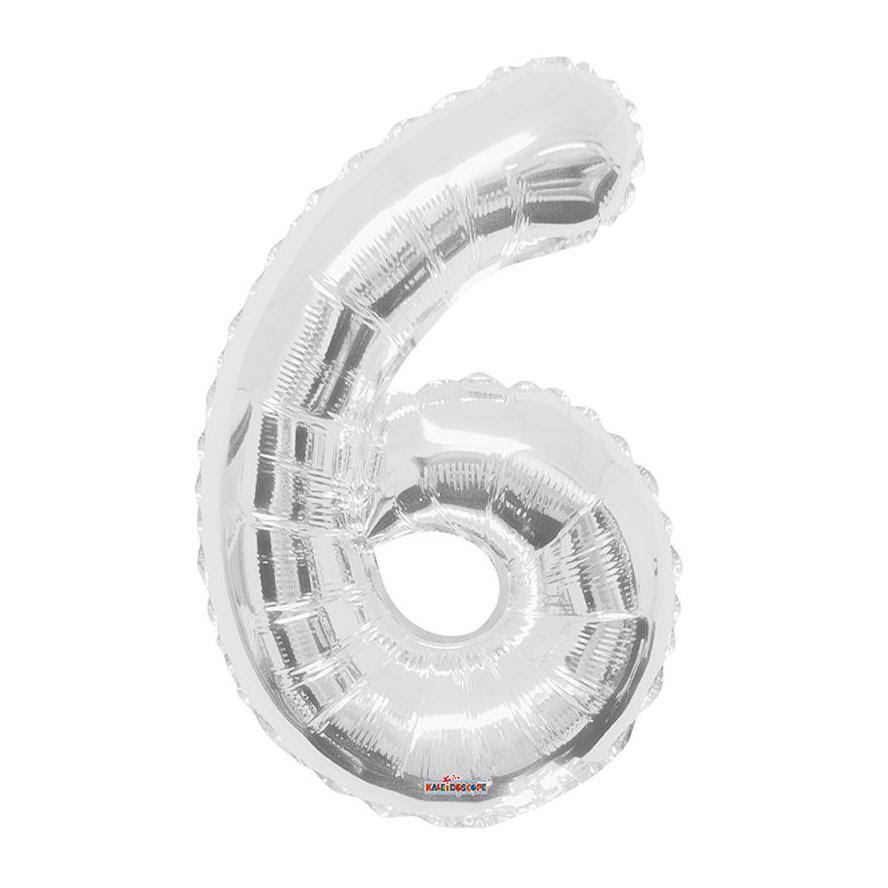 "34"" Number 6 Foil Balloon - Silver"