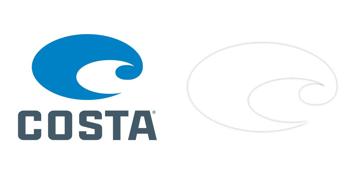 Costa Logo Decal 2 Pack Logo