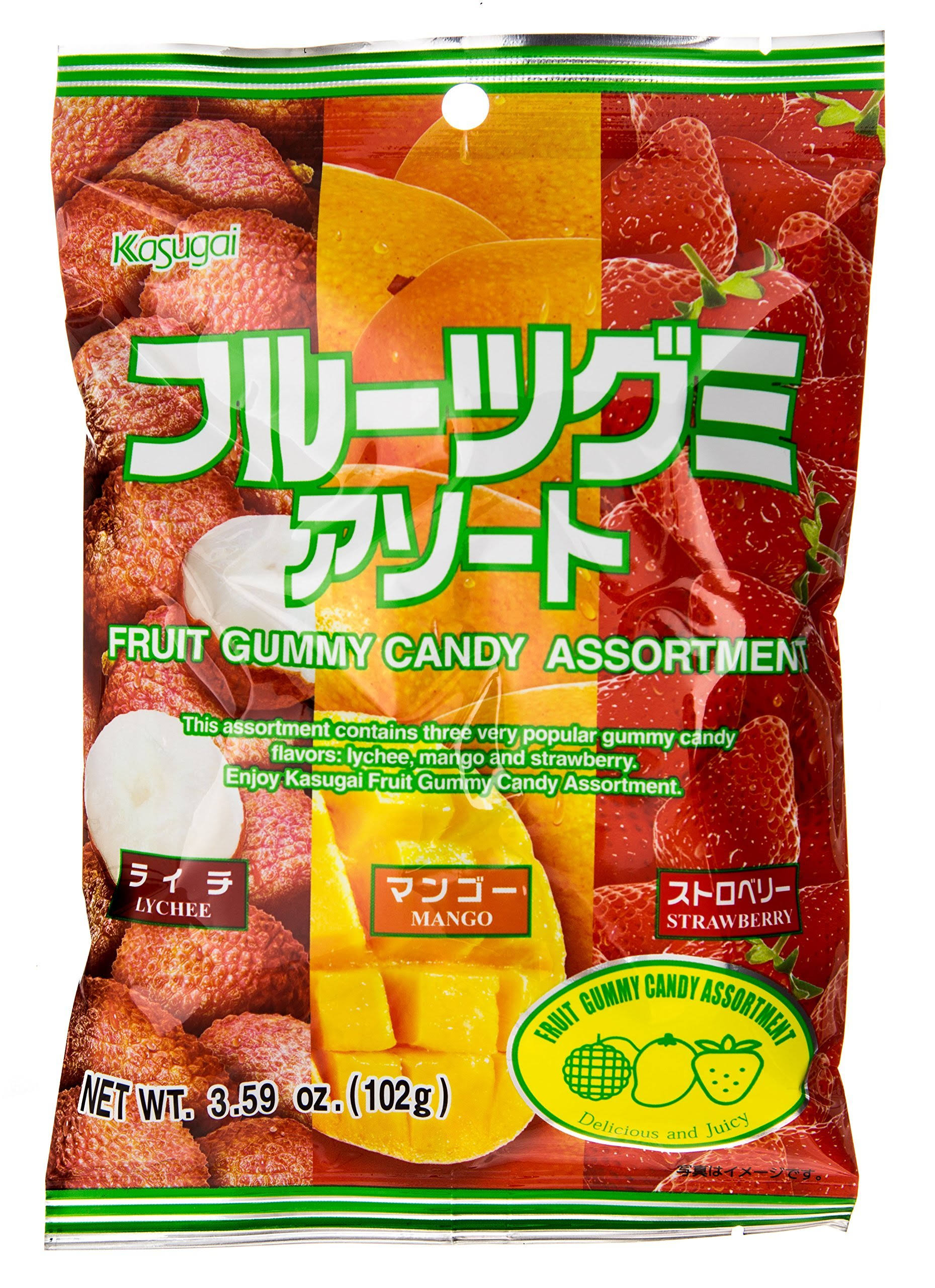 Kasugai Fruit Assortment Gummy Candy - 3.59oz