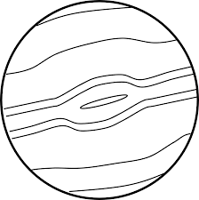 Planets clipart black and white Pencil and in color planets