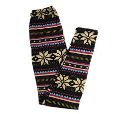 snowflakes aztec tribal soft solid leggings pattern womens winter