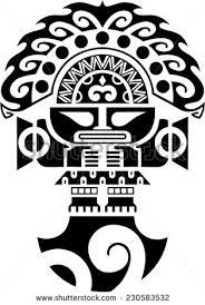 Tumi Tribal Ceremonial Knife Inca Culture Illustration