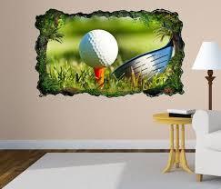 3d wandtattoo golf sport golfball abschlag bild selbstklebend wandbild sticker wohnzimmer wand aufkleber 11h171