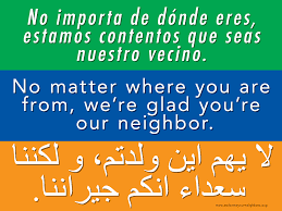 si e social en anglais welcome your neighbors no matter where you are from we re glad