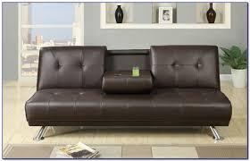 innovative faux leather sleeper sofa dhp furniture delaney sofa