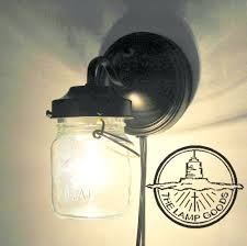 wall sconce lighting with in jar light farmhouse flush