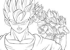 Best Printable Dragon Ball Z Anime Manga Coloring Books For Kids