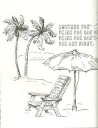 Beach Drawing Coloring Page Can Or Cant