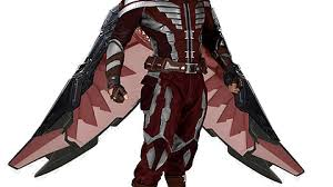 Falcons Red And White Iconic Costume In The Marvel Cinematic Universe By Sjoerd