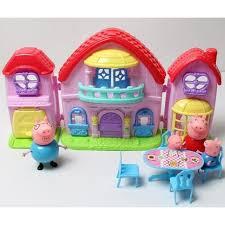 figurine peppa pig jouet lot de 4 maison et la table achat