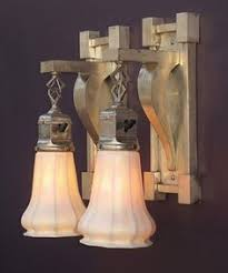 wall sconces with handmade steuben rainbow color glass light