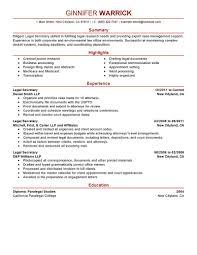 Help Desk Technician Salary California by Best Legal Secretary Resume Example Livecareer