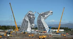 long faces stunning pictures show 300 tonne steel horse u0027kelpies