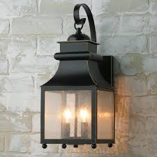 homesteader seeded glass outdoor wall lantern shades of light