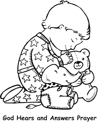 Child Prayer Colouring Pages