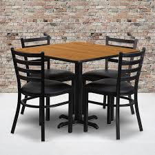 36'' Square Natural Laminate Table Set With X-Base And 4 Ladder Back Metal  Chairs - Black Vinyl Seat Flash Fniture 36 In Round Natural Laminate Table Set With Cosco Vinyl Folding Chairs Game Poker Teal Shacos Placemats For Dinner Of 6 Pvc Woven Mats Wipe Clean Heat Resistant6 Green Bamboo Grid Us 208 2015 Free Shipping Coffee Shop Wall Decal Tea Cafe Restaurant Decoration Chair Mural Art Stickerin Minimalist And Cool Scdinavian Ding Modern Room Small White Big Material Faux Detail Feedback Questions About 24 Kitchen Height Tables For Tray Cloth Foldable Combi Roller Venetian Blinds Curtains Carpet Roll Vinyl Sutton 3 Piece Spacesaver Bistro Glass Top And Padded
