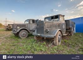 Old German Military Trucks Of World War II Outdoor Stock Photo ...