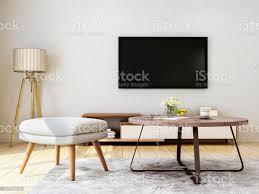 moderne wohnzimmer design sofa bank couchtisch tv und stehleuchte stockfoto und mehr bilder architektur