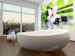 badezimmer ideen für kleine bäder mit fototapeten