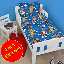CHARACTER & GENERIC JUNIOR 4 IN 1 TODDLER BEDDING BUNDLE SETS PAW