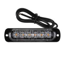 6LED Slim Flash Light Bar Car Vehicle Emergency Warning Strobe Light ...