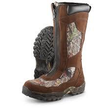 men u0027s waterproof guide gear front zip snake boots mossy oak