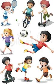 Illustration Of The Kids Engaging In Different Sports Activities