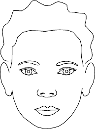 Excellent Blank Face Coloring Page Awesome Color Design Ideas