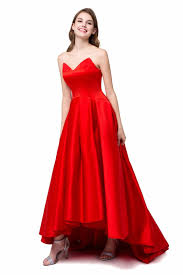 compare prices on high low dress sweetheart red dress online