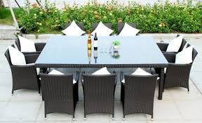 8 10 Person Patio Table by Nice Outdoor Dining Table Chairs Room Round Tables For 10 Best