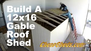 Free 10x12 Gable Shed Plans by How To Build A 12x20 Gable Roof Shed In 10 Minutes Youtube