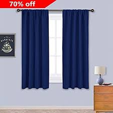 Blackout Curtains For Traverse Rods by Amazon Com Blackout Room Darkening Curtains Window Panel Drapes