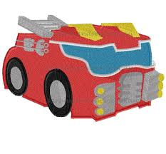 100 Rescue Bots Fire Truck Heatwave Transformers Bot Embroidery Design