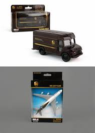 100 Ups Truck Toy UPS Plane Diecast Delivery Vehicle Package Two Diecast Model Replicas