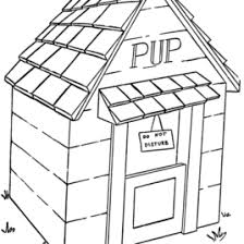 Dog House Coloring Page AZ Pages