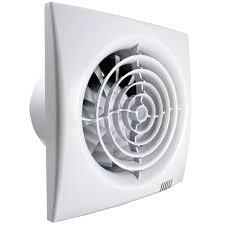 leiser badventilator mit zeitnachlauf feuchtesensor und pvc rückschlagklappe ø 100 mm