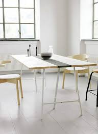 Dining Room Furniture Ikea by Modern Ikea Hack Roundup Diy Dining Table Trestle Legs And Ikea