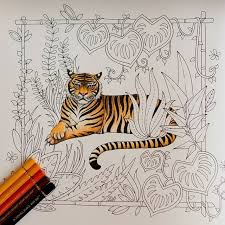 The Tiger Is Done Magicaljungle Johannabasford Coloring Coloringbook