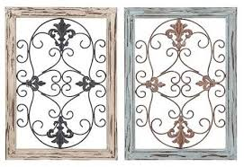 Wood Metal Wall Panel With Intricate Design