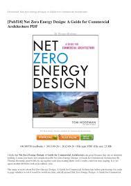 100 Zeroenergy Design REVIEW Net Zeroenergydesignaguideforcommercialarchitecturepdf